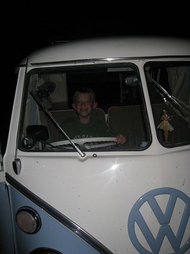 vw camper and ethan