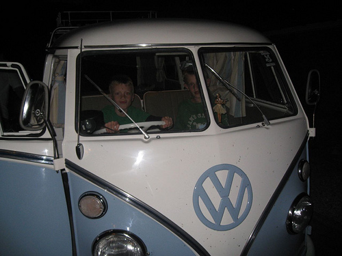 VW Camper with miles