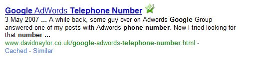 Google Adwords Contact