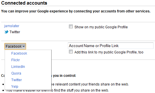 Google Connected Accounts