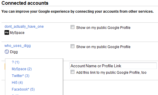Google Connected Accounts (Bonus!)